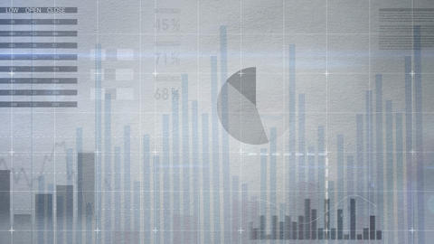Business interface with numerous charts and graphs Live Action