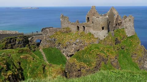 Dunluce Castle in Northern Ireland - a popular landmark in Northern Ireland Live Action
