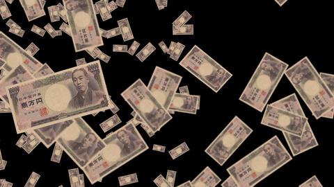 Japanese yen money animation Animation