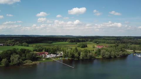 drone scene Chiemsee Bavaria Live Action