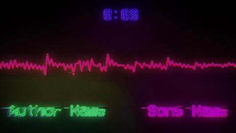 Retro Screen Music Visualizer After Effects Template