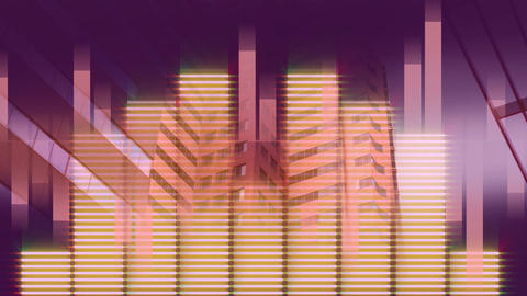 Music equalizer with purple and pink ray backdrop CG動画