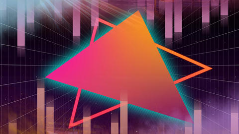 Animation of colorful triangle Animation