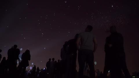Night lantern balloons Footage