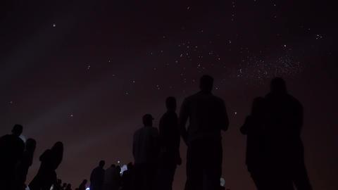 Night lantern balloons far GIF