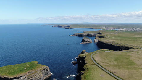 Beautiful Kilkee Cliffs at the west coast of Ireland Live Action