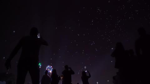 Night lantern baloons GIF