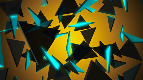 Abstract background with triangles Animation