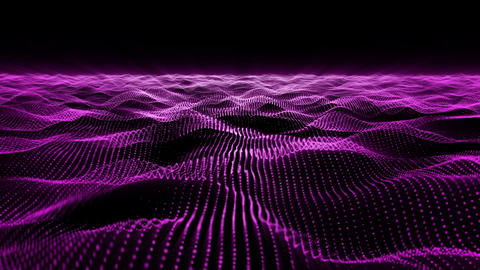 Purple wave background Animation