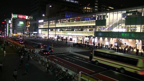 Shinjuku expressway bus terminal Footage