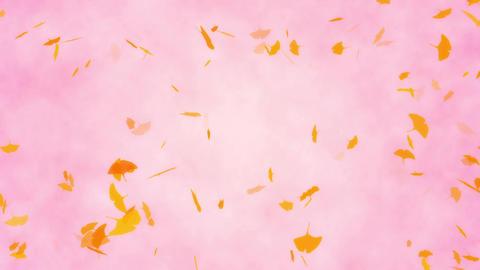 秋 背景 イチョウ ループ Animation