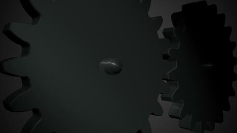 Big gears rotation Animation