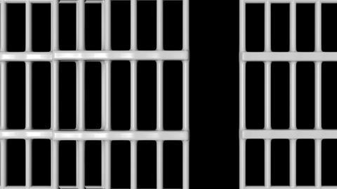 Animation of Closed Jail bars Animation