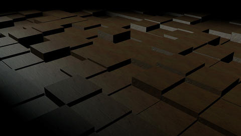 Cubic surface in motion. Ready animation of cubes moving up and down Animation