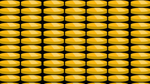 Gold coins falling. Beautiful Looped animation Animation