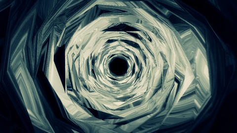 Wormhole though time and space, flashy high tech style. Displacement geometry Animation