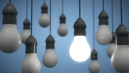 Hanging Light Bulbs Bright Idea Animation