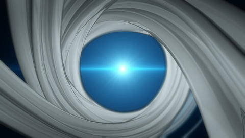 Spiral background with blue flares. Seamless loop Animation