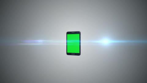 Animation of a chroma key screen of a smartphone against grey background Animation