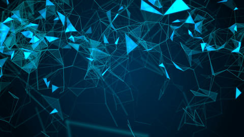 Abstract Seamless Geometric Background. Network connection Animation