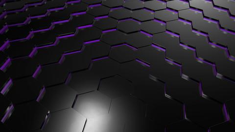Hexagonal technology background Animation
