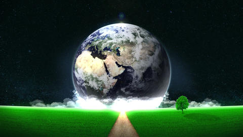 Energy Saving,Eco,Earth,loop,way,position center Animation