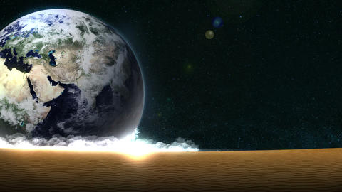 Energy Saving,Eco,Earth,loop,sand,position left CG動画