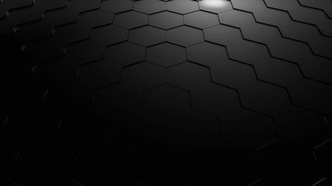 Hexagonal technology background Stock Video Footage