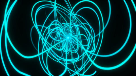 Energy lines twisting and turning through space Animation