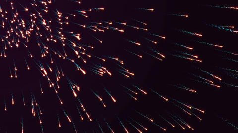 Abstract motion background, shining lights, energy waves and sparkling fireworks Animation