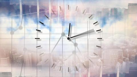 Animation of turning clock Animation