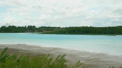 Turquoise lake on the ash dump 08 of 25 Footage