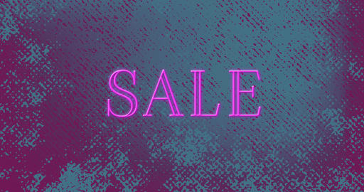 Animation of sale text sparking in pink color 4k Animation