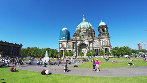 Berlin Cathedral. Berliner Dom. 4K Live Action