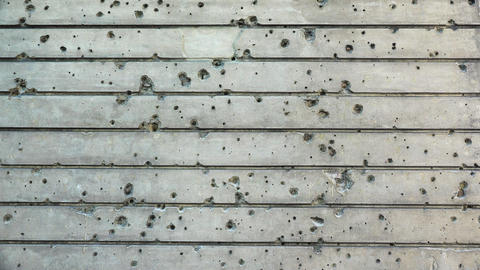 Bullet marks on the wall of a historic building. Berlin. Germany. 4K Footage