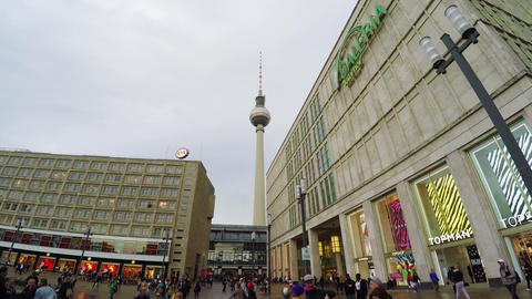 TV tower in Berlin. Germany. 4K Footage