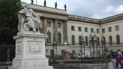 Humboldt University Of Berlin. 4K Stock Video Footage