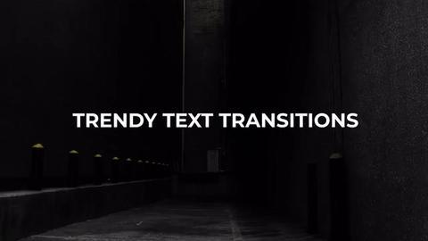 Trendy Text Transitions Premiere Pro Effect Preset