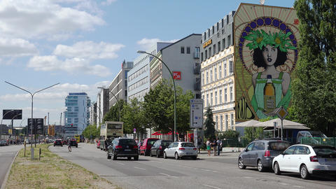 Berlin Center. Old city. Architecture. Houses, streets, neighborhoods. Germany. 4K Footage