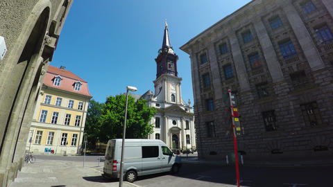 Parish Church in Berlin. Germany. 4K Archivo