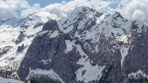 Timelapse of the beautiful south face of the Marmolada…, Live Action