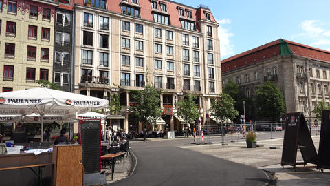 Berlin Center. Old city. Architecture. Houses, streets, neighborhoods. Germany. 4K Live Action