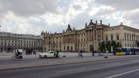 The old library on Bebel Square in Berlin. 4K Live Action