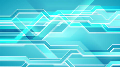 Bright blue abstract hi-tech video animation Animation