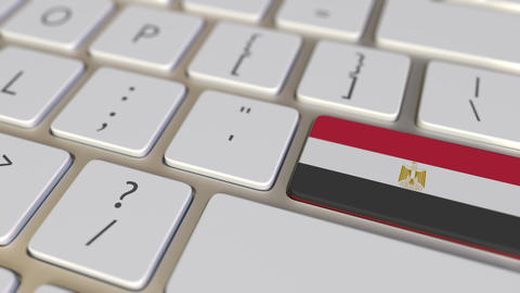 Key with flag of Egypt on the computer keyboard switches to key with flag of Live Action