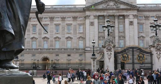 Buckingham Palace Facade Footage