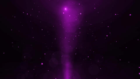 Purple Particles and Light Animation