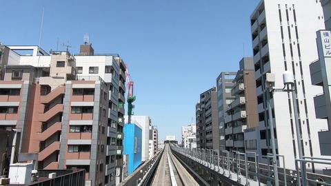 Japanese railway car window. Straight run Live Action