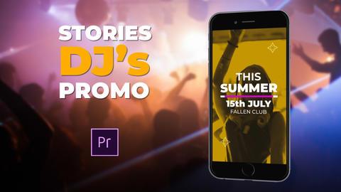 Stories DJ's Promo Plantillas de Premiere Pro