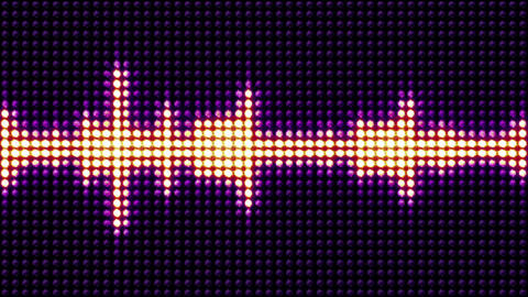 Music Equalizer Waves, Radio, Lights Bulbs Animation,... Stock Video Footage